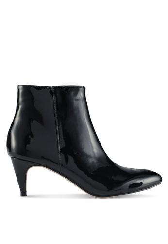 Public Desire black Atomic Pointed Toe Low Heel Boots FD6E0SH61C2169GS_1
