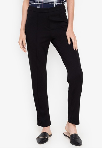 MARKS & SPENCER black Slim Leg Flat Front Trousers 41C4FAAD068382GS_1