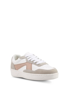 72d60910aff67 10% OFF MANGO Leather Panel Sneakers Php 2