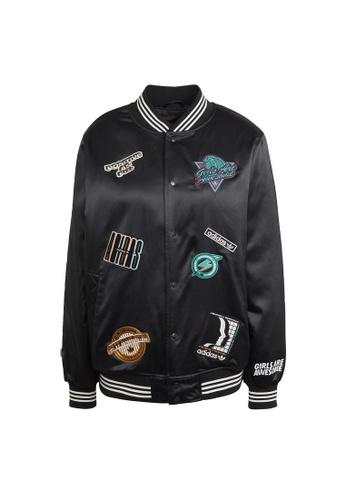 ADIDAS black adidas Originals Girls Are Awesome Collegiate Jacket 6F408AA1275CAEGS_1