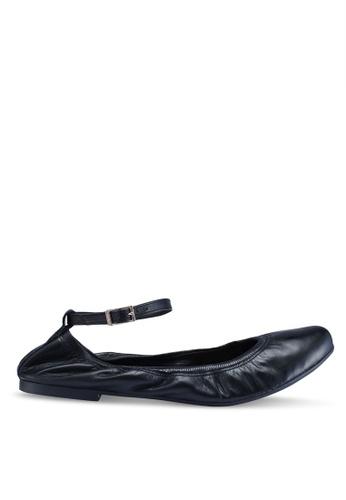 Anacapri 黑色 繞踝平底鞋 37697SHD1B8558GS_1