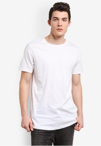 Cotton On white Longline Scoop Hem Tee CO372AA0RI1IMY_1