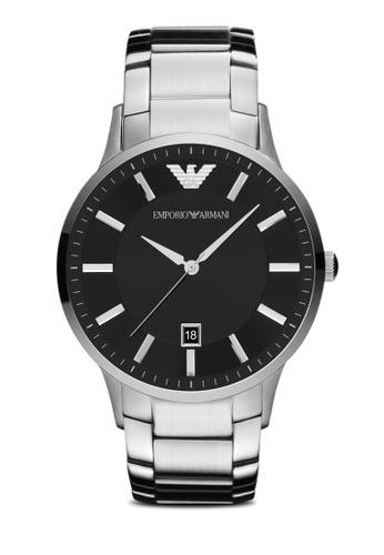 ARMANI black and silver Silver Steel / Black Armani AR2457 AR899AC09ELYSG_1