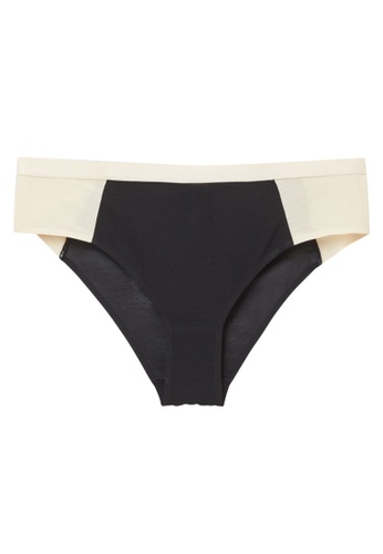 COS black and white and multi and beige Mesh Panel Brazilian Briefs 2D494USF9AC5A5GS_1