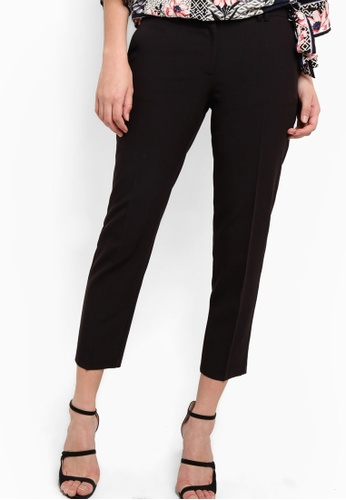 Dorothy Perkins black Black Double Loop Ankle Grazer Trousers DO816AA79TXKMY_1