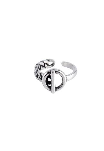 A-Excellence silver Premium S925 Sliver Geometric Ring C94F9AC6E609F9GS_1
