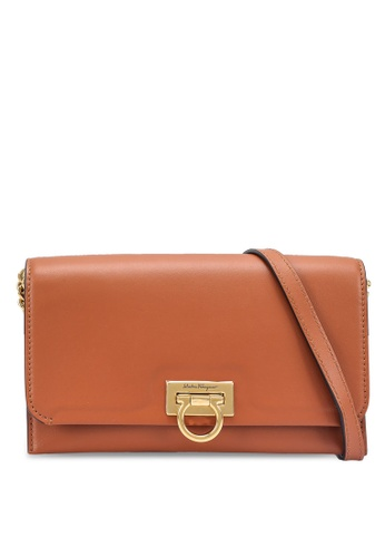 Ferragamo brown Trifolio Mini Bag (zt) 11551AC6F999CFGS_1