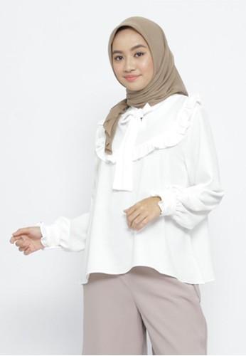 Mimamim white Blouse Fawnia Ruffled 835ACAA7D50CF2GS_1