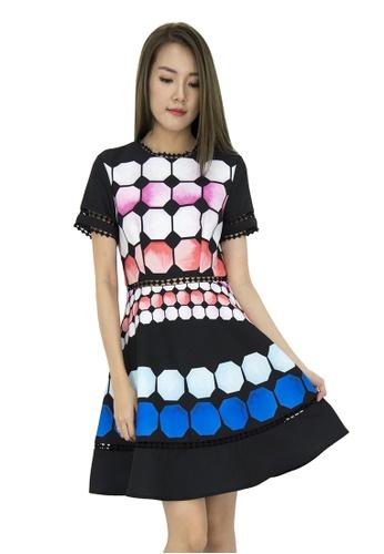 MOONRIVER black Rae Classic Polka Dots Fit And Flare Dress MO886AA0GSYESG_1
