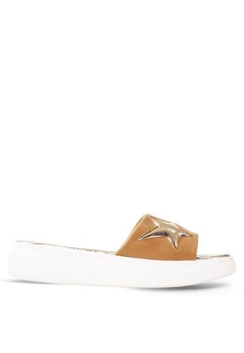 CLARETTE brown Clarette Sandal Katya - Khaky CL076SH34DYJID_1