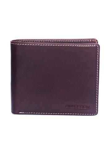ENZODESIGN brown Italian Leather Coin Box Wallet EN115AC60ZTZPH_1