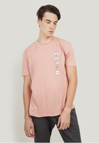 OXYGEN pink OXGN Easy Fit Tee With Graphic Print 24C6FAAB74B391GS_1