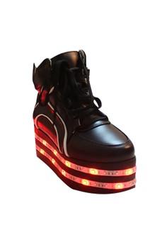 GYD-6638-1 Lady's Leisure LED Luminous Height Increasing Elevator Shoes