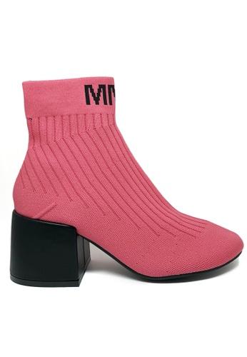 Twenty Eight Shoes pink Socking Boots MM9 8C0D6SH37F0AAAGS_1
