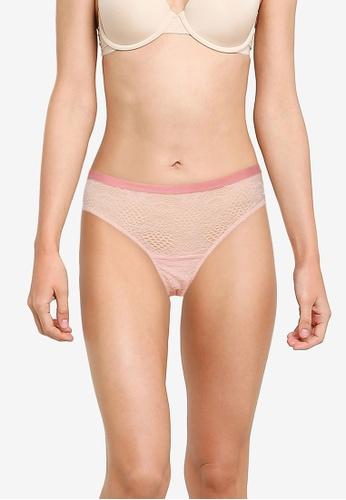 LC WAIKIKI pink Lace Brazilian Briefs 4352BUSA6E9A8FGS_1