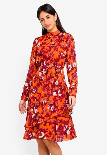 Vero Moda orange Karen Long Sleeve Dress 3CBDFAA4800977GS_1