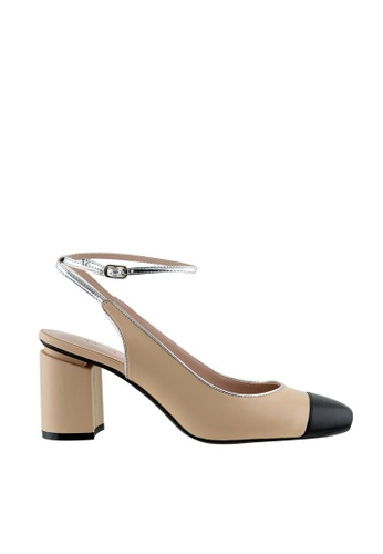 eq:iq multi eqAMBER Ankle Strap Block Heel Pumps EQ351SH33YNQSG_1