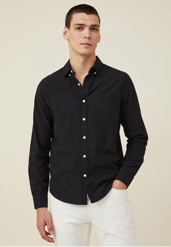 Cotton On black Mayfair Long Sleeve Shirt FCEB4AA18B7014GS_1