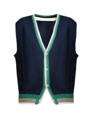 Twenty Eight Shoes navy VANSA Wool Vest Jacket  VCW-V01146 1200CAAE78B670GS_1