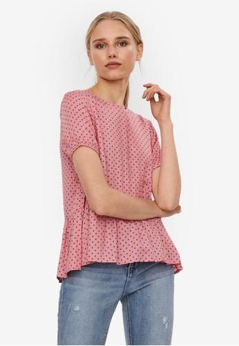 Vero Moda pink Short Sleeve Top 05233AAFB4026EGS_1