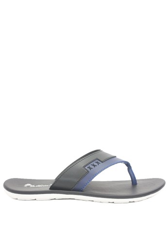 Dr. Kevin black and blue Dr. Kevin Men Sandals 97197 - Black/Blue CD1EBSHA824EE4GS_1