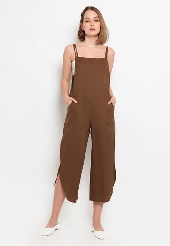 et cetera brown Crop Legged Jumpsuit CD0E1AAF825571GS_1