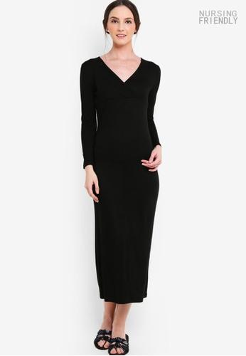 Lubna black Basic Nursing Inner Dress 95B39AA20E62CCGS_1