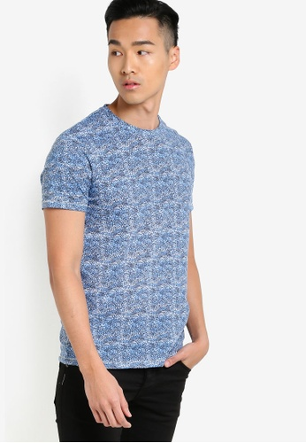 !Solid blue Hadiriel Cold Dyed T-Shirt SO701AA10WPHMY_1