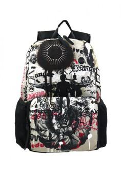 Unisex Printed Casual Daypacks Bag-Feelings (Multicolor)