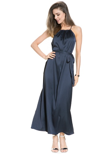Mayarya navy Sevilla Maternity and Nursing Dress E561EAAED89D23GS_1