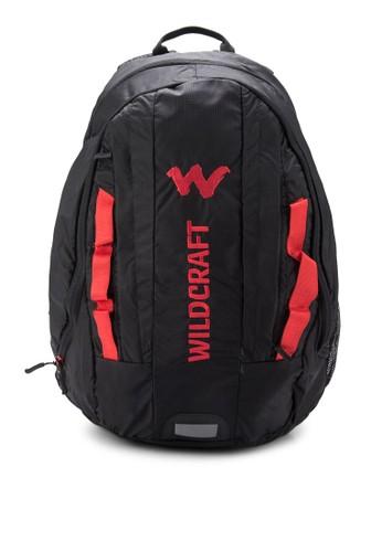 Vaya zalora時尚購物網評價撞色尼龍帶後背包, 包, 旅行背包