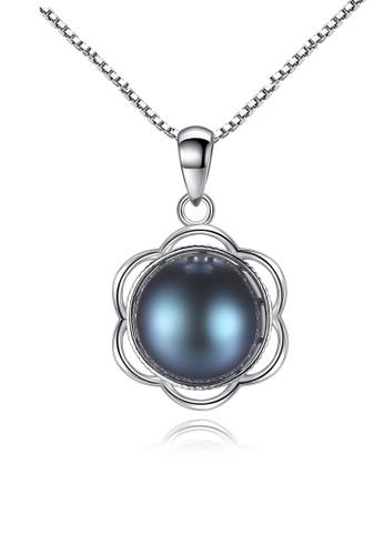 A.Excellence black Premium Black Pearl Elegant Necklace CE290AC4F6CC43GS_1