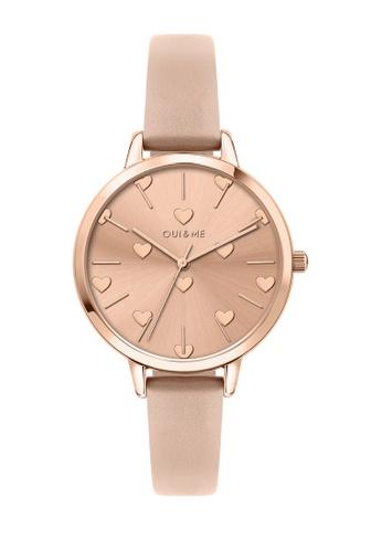 Oui & Me gold OUI&ME Amourette Quartz Watch Rose Gold Leather Strap ME010106 D991CAC714F46DGS_1