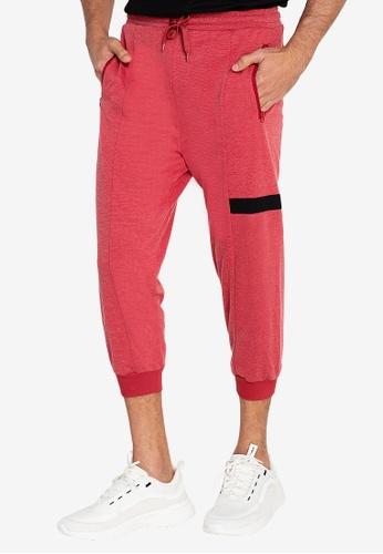 ZALORA ACTIVE red 3/4 Jogger Pants 55D11AA23D57FAGS_1