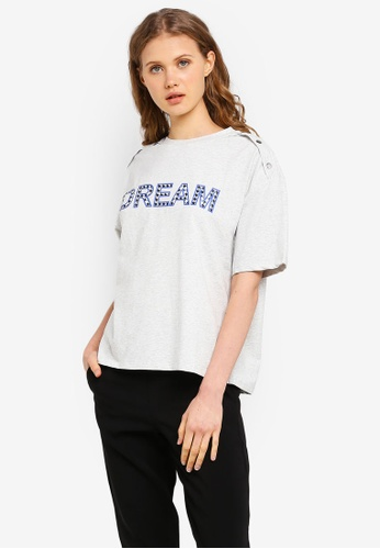 ESPRIT grey Dream Short Sleeve T-Shirt F30EDAAC3C3F3CGS_1