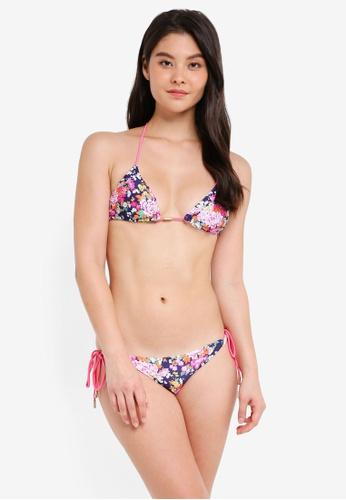 Yshey blue Floral Reversible Noah Bikini Set 0F790US3C35A8DGS_1