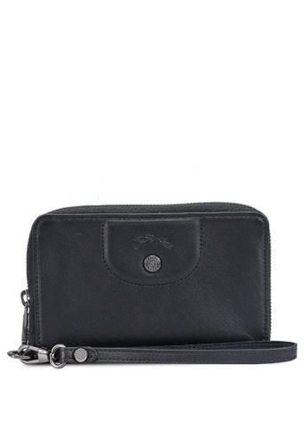 LONGCHAMP black Le Pliage Cuir Wallet D9EA3ACC47AC45GS_1