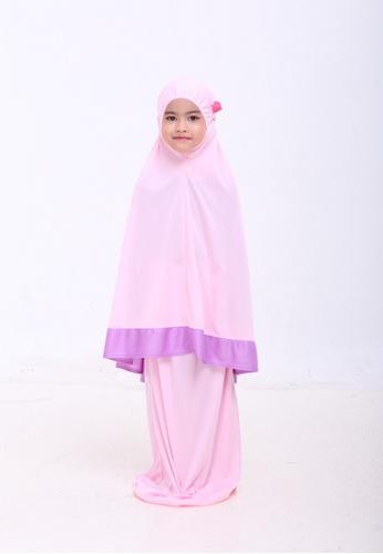 AN-NAJWA pink Annajwa Telekung Kids Aranda Pink Purple C4176KC6D33140GS_1