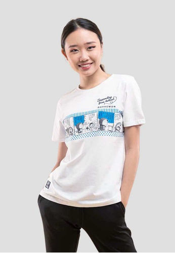 FOREST white Forest X Doraemon Comic Print Round Neck Tee - FD820016-02White 98BE0AA472EE47GS_1
