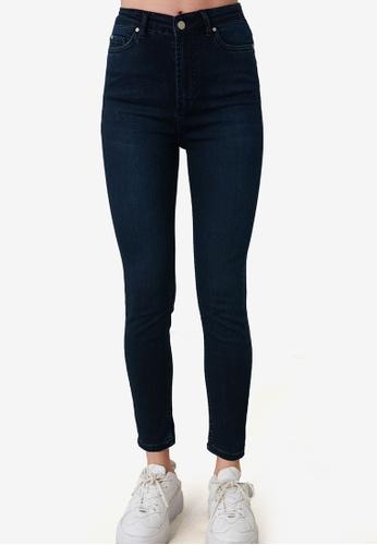 Trendyol navy High Waist Skinny Jeans 9DF6FAA30A809FGS_1