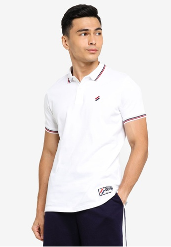 Superdry white Sportstyle Twin Tipped Polo Shirt 3B26EAAA4BBD9EGS_1