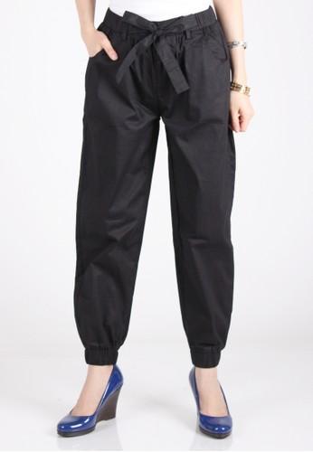 Meitavi's Bowtie Jogger Pants - Black