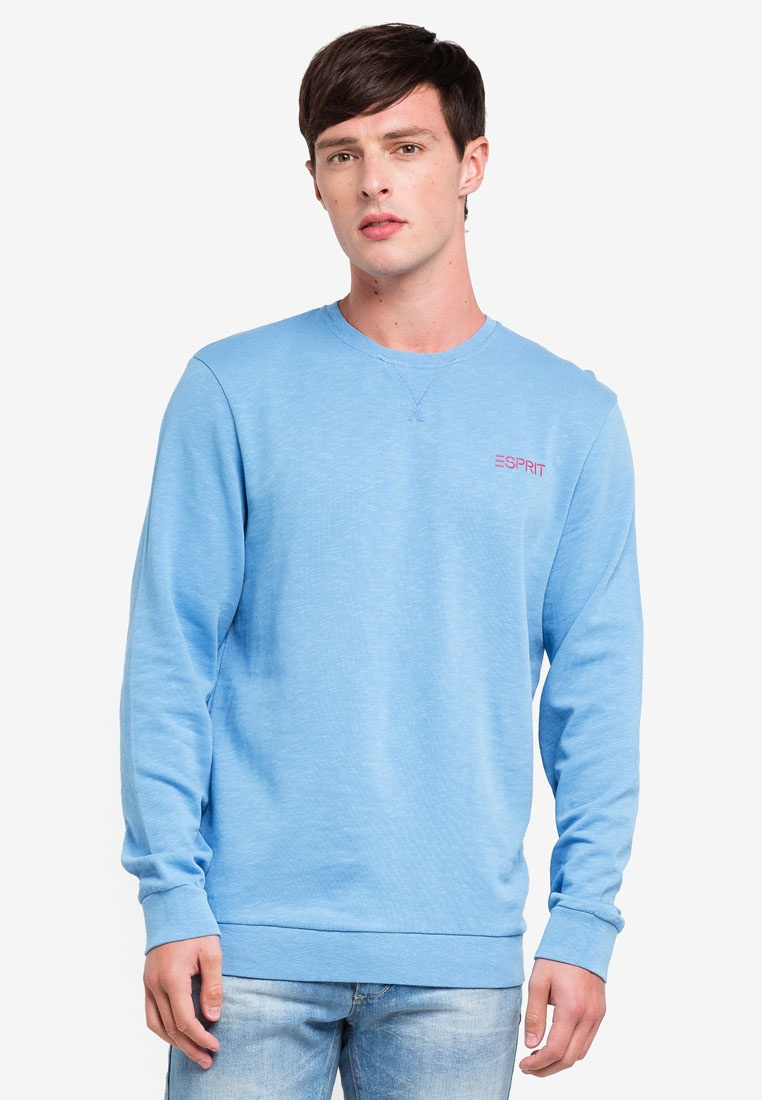 Blue Long Sleeve Sweatshirt Long ESPRIT Sleeve qgzwwfUX