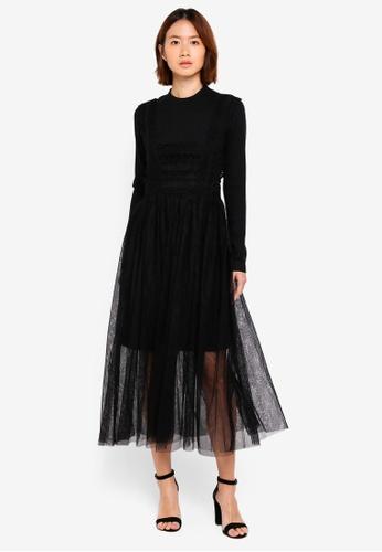 Haute Kelly black Eunseo Dress C0047AA8C7CDFEGS_1