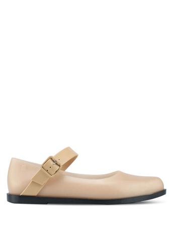 Melissa 米褐色 Melissa 瑪莉珍平底鞋 56CFCSH037E3ECGS_1