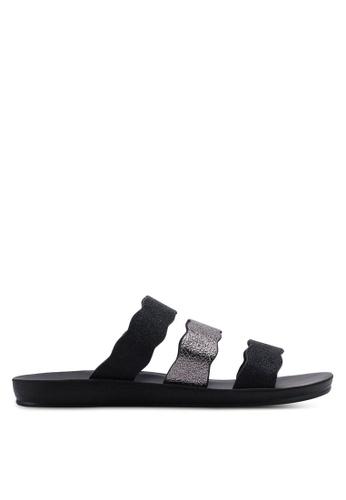 NOVENI black Strappy Sandals 693B2SH1A5E0E3GS_1