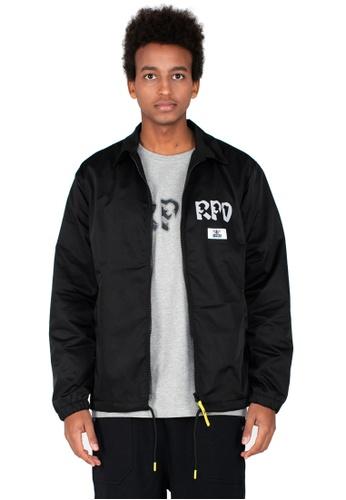 Reoparudo black RPD Reflective Logo Print Coach Jacket (Black) D8DDDAA048E7EDGS_1