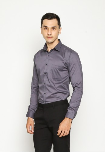 Valino Grey LONG SLEEVES SLIM FIT SHIRT VA583AA0UBPZID 1