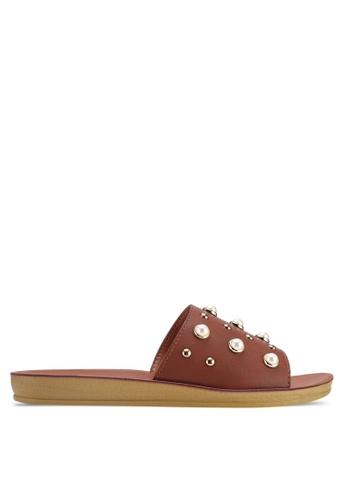 NOVENI brown Pearl Sandals FE6F5SHAE229D9GS_1