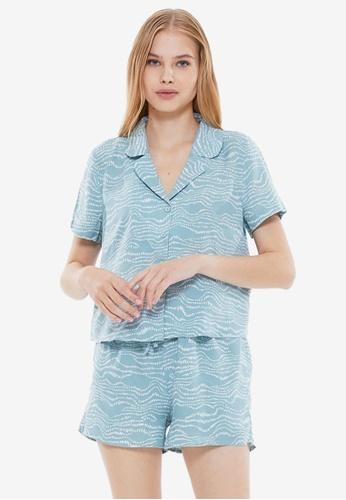 Trendyol 綠色 綠色 Pyjamas 383FBAA7D9191CGS_1